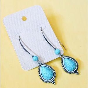 Jewelry - NEW Light Green Variscite Statement Earrings